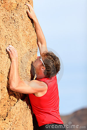 Free Climbing - Rock Climber Stock Photography - 24164012