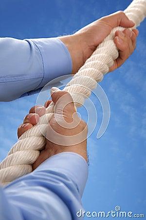 Climbing a rope