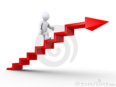 Climbing stairs of success