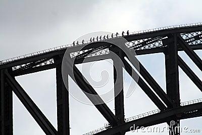 Climbing Sydney harbor bridge