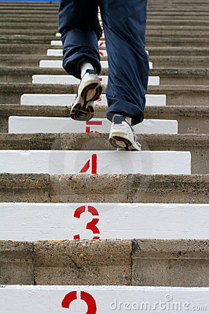 Free Climbing The Stairs Royalty Free Stock Image - 718356