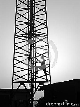 Climbing on transmitter