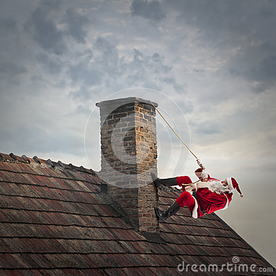 Free Climbing Up The Chimney Royalty Free Stock Images - 63591159