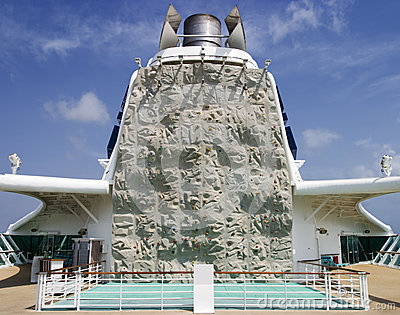 Climbing Wall On Cruiseship
