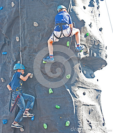 Climbing wall at   Go wild on the Canal   event. Editorial Stock Photo
