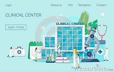 Clinical center Cartoon Illustration
