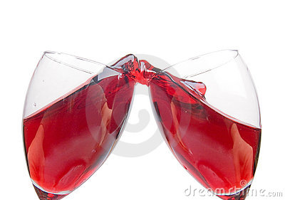 Clink glasses