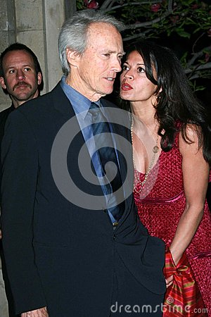 Clint Eastwood,Dina Eastwood Editorial Photography