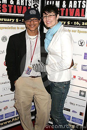 Clinton H. Wallace and Claudia Lari at the Pan African Film Festival Premiere of  Layla . Culver Plaza Theatre, Culver City, CA. 0 Editorial Photo