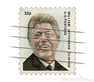 Clinton Postage Stamp Redaktionelles Stockfoto