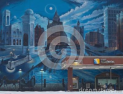 clinton serenade mural in syracuse,ny Editorial Stock Photo