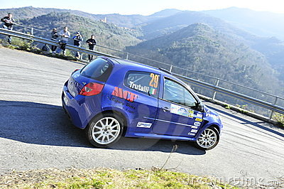Clio Renault Rally Car Editorial Stock Photo