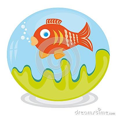 Clip art of fish in aquarium