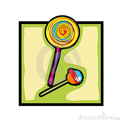 Clip art lollipop and candy