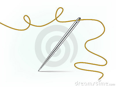 Clip-art of needle and thread