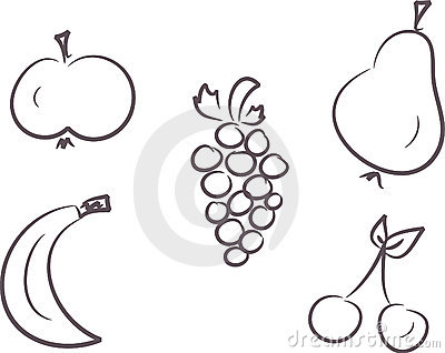 Clip-art set: Fruits