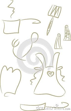 Free Clip-art Set: Kitchen Items Royalty Free Stock Photos - 10682278