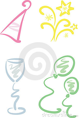 Clip-art Set: New Year / Party