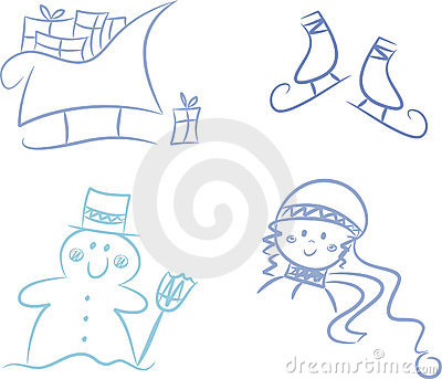 Clip-art Set: Winter Season