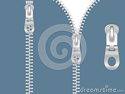 Clip-art of zipper