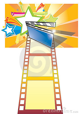 Clip board, film and star backgroundr (with ai fil