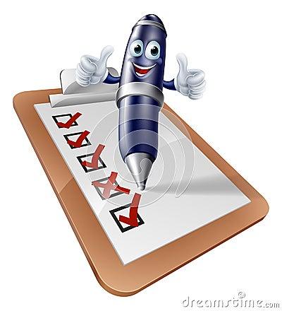 Clip Board Survey Cartoon Stock Vector - Image: 41612437
