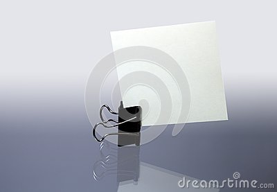 Clip with paper