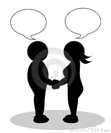 Clipart couple - man and woman