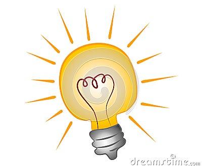 Clipart (images graphiques) lumineux d ampoule