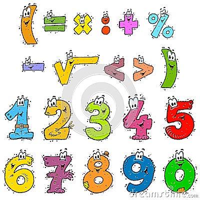 Clipart koloru liczby