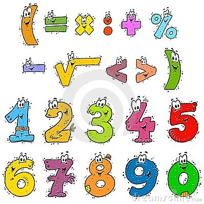 Clipart Numbers Color