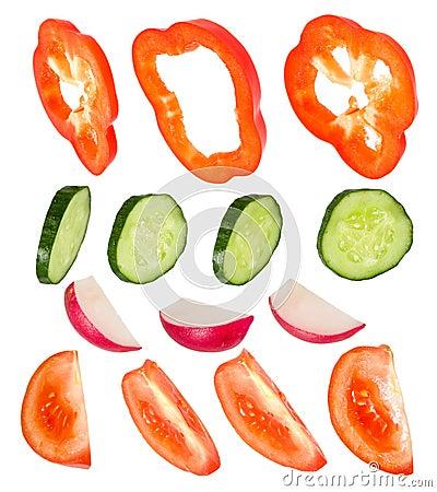 Clipart pepper, cucumber, garden radish, tomato