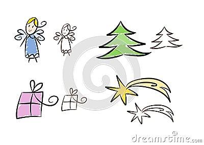Clipart set: Christmas