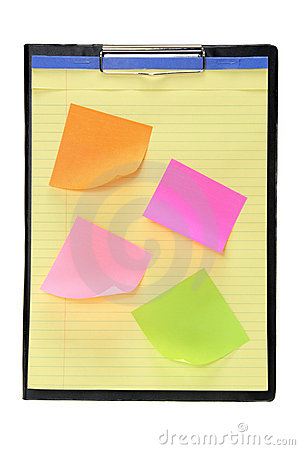 Clipboard with Adhesive Note Papers