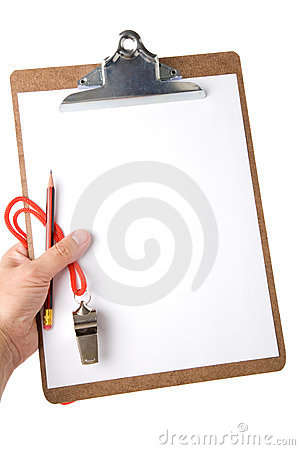 Free Clipboard And Whistle Stock Image - 2998321