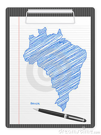 Clipboard Brazil map