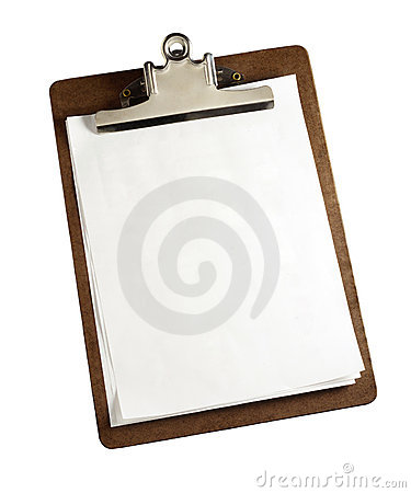 Clipboard with clipping path