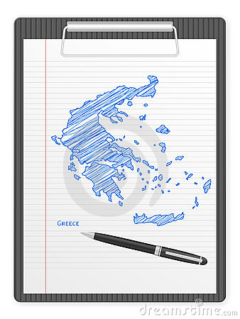 Clipboard Greece map