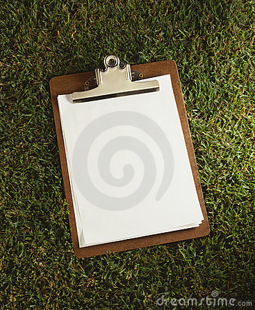 Clipboard Laying on grass