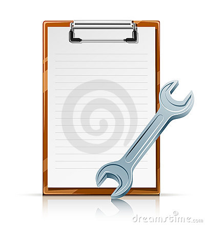 Clipboard with spanner