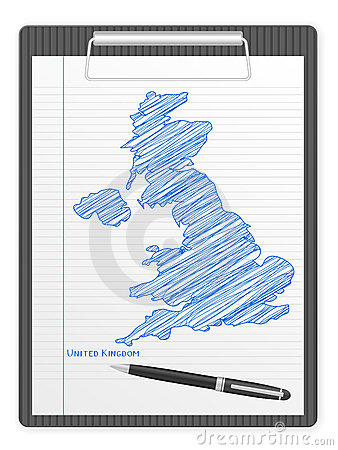 Clipboard UK map
