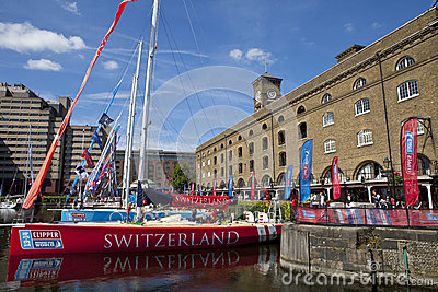 Clippers Moored at St Katherine Dock in London Editorial Photo