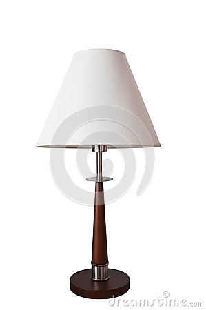 CLIPPING PART.Tall lamp with white shade on white