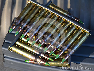 Clips of 5.56mm ammo