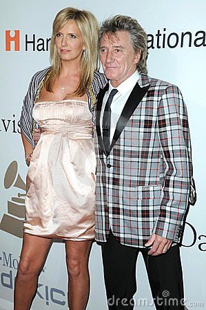 Clive Davis, Penny Lancaster, Rod Stewart Editorial Photography
