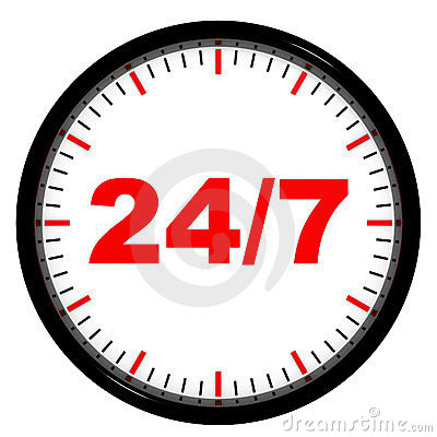 Clock. 24/7 avaliable.