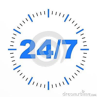 Clock. 24/7 avaliable.