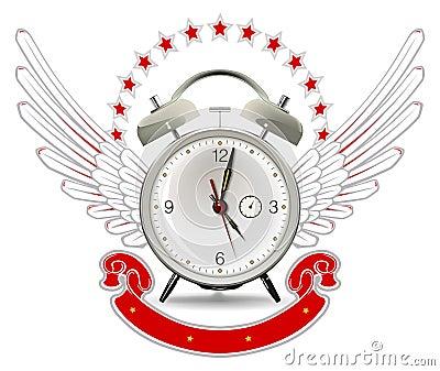 Clock alarm emblem