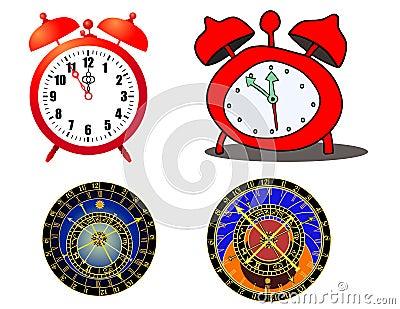 Clock and astronomical clock