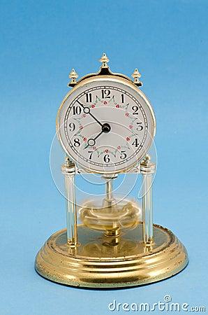 Clock on azure background